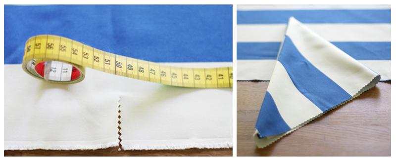 DIY Serviette mit ZickZack-Schere zuschneiden