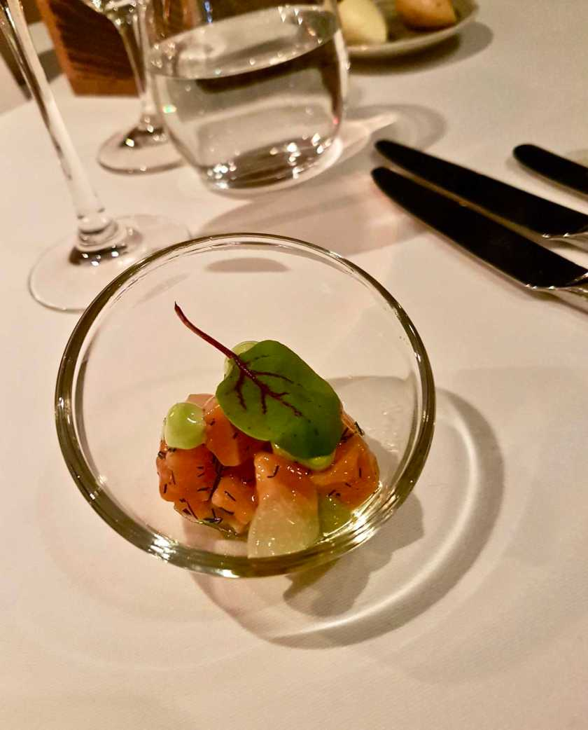 Cured Sea Trout (Dill, Cucumber) Paired Wine