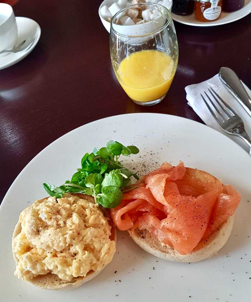 Scrambled Eggs & Salmon at The Watershyppes Clubhouse
