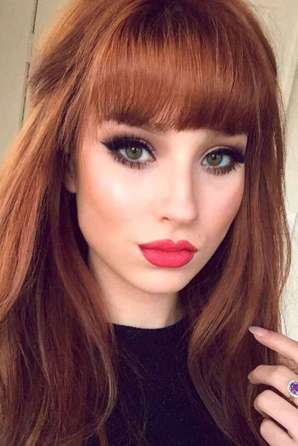 Image Result For Long Black Hairstyles With Side Bangs