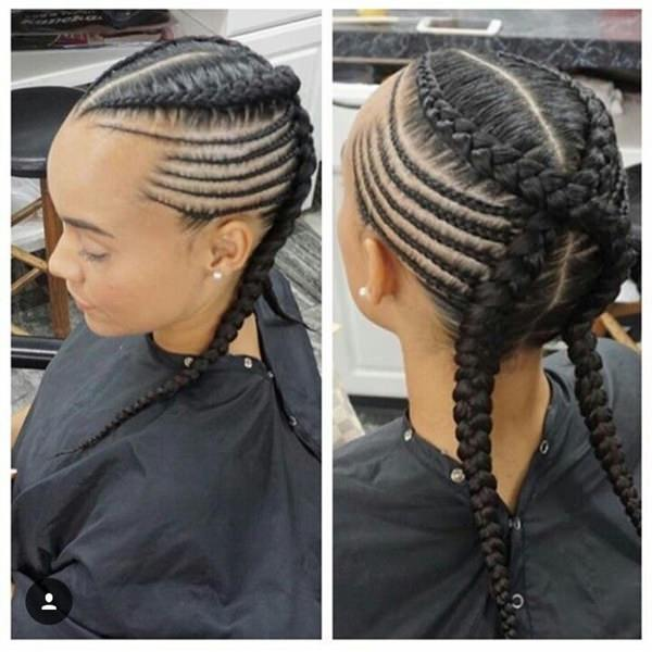 creative designs feed in braid hairstyles. - 12040418 feed in braids 1 2 - Ladies: Choose From These Gorgeous Feed in Braid Hairstyles for your New Look