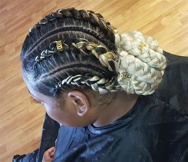 White braid Styles feed in braid hairstyles. - 23040418 feed in braids 1 1 - Ladies: Choose From These Gorgeous Feed in Braid Hairstyles for your New Look
