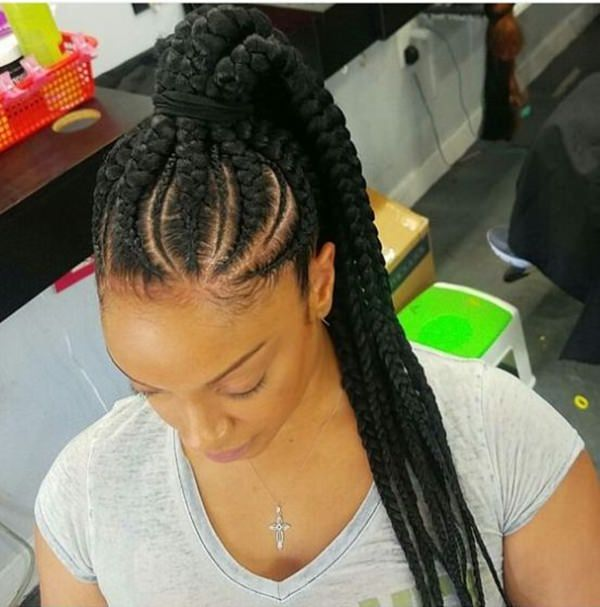 Stunning Braided ponytails feed in braid hairstyles. - 32040418 feed in braids 1 1 - Ladies: Choose From These Gorgeous Feed in Braid Hairstyles for your New Look