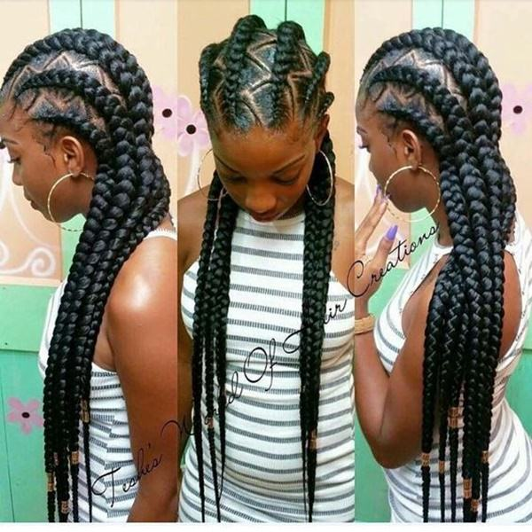 triangle braid Styles feed in braid hairstyles. - 37040418 feed in braids 1 1 - Ladies: Choose From These Gorgeous Feed in Braid Hairstyles for your New Look