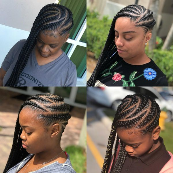 zig zag braided hairstyles feed in braid hairstyles. - 55040418 feed in braids - Ladies: Choose From These Gorgeous Feed in Braid Hairstyles for your New Look