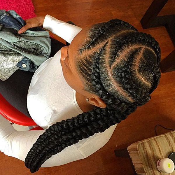 Zig zag braided looks feed in braid hairstyles. - 68040418 feed in braids 1 1 - Ladies: Choose From These Gorgeous Feed in Braid Hairstyles for your New Look