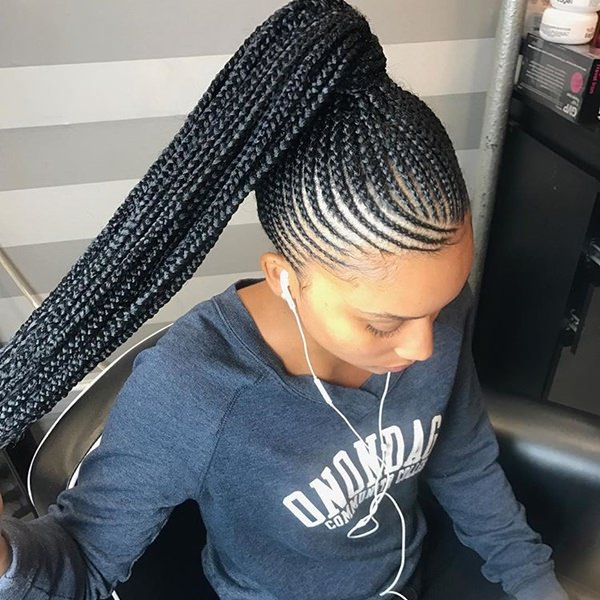 Tiny Braiding style feed in braid hairstyles. - 77040418 feed in braids 1 1 - Ladies: Choose From These Gorgeous Feed in Braid Hairstyles for your New Look