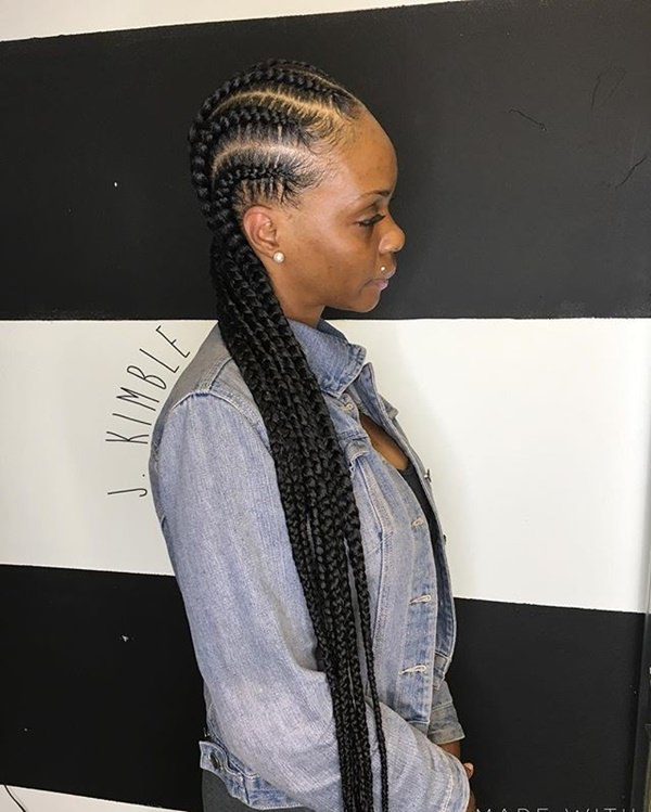 Bold and Simple Braiding feed in braid hairstyles. - 79040418 feed in braids 1 1 - Ladies: Choose From These Gorgeous Feed in Braid Hairstyles for your New Look