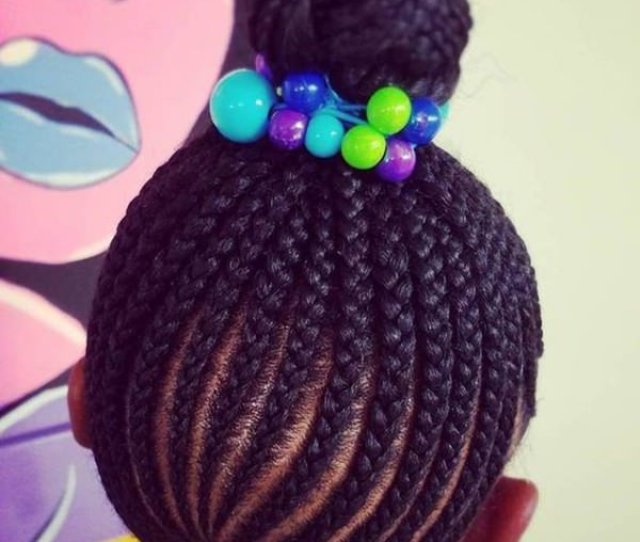 These Braids Are Super Tight Because They Are Meant To Be A Protective Style They Are Then Piled High On Top To Create A Cute Bun