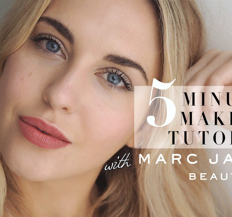 5 MINUTE MAKEUP TUTORIAL WITH MARC JACOBS BEAUTY