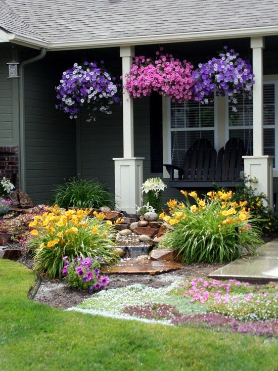 28 Beautiful Small Front Yard Garden Design Ideas - Style ... on Backyard Lawn Designs  id=52090