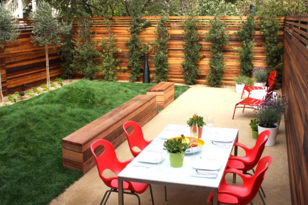 20 Amazing Ideas for Your Backyard Fence Design on Backyard Wall Decor Ideas  id=27944