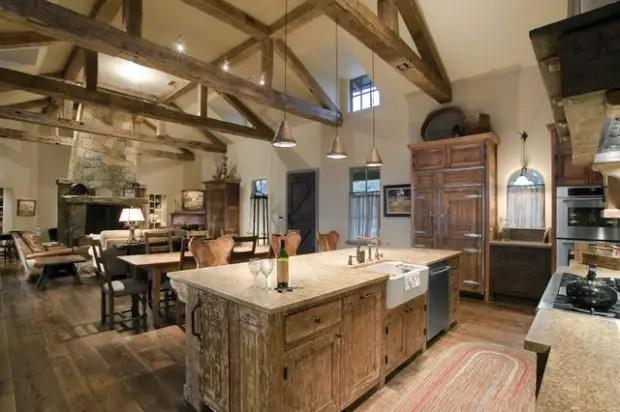 20 Cozy Rustic Kitchen Design Ideas on Farmhouse:4Leikoxevec= Rustic Kitchen Ideas  id=66198