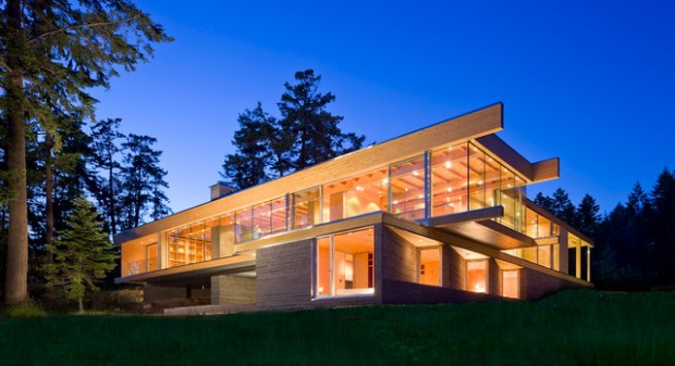 18 Modern Glass House Exterior Designs on Modern Glass Houses  id=37993