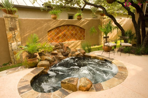 21 Landscaping Outdoor Living Spaces with Hot Tubs - Style ... on Outdoor Living Spa  id=79214