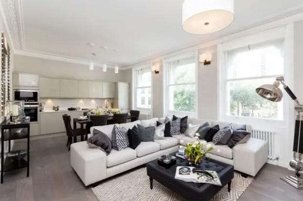 Cozy Small Living Room Decoration Idea With Brick Stone Pattern Wallpaper Unique Design For