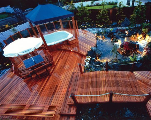18 Stunning Decks and Patios Design Ideas with Hot Tubs on Deck And Hot Tub Ideas  id=28858