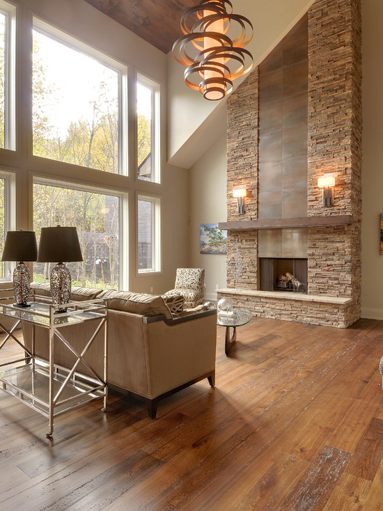 17 Contemporary Living Room Design Ideas In Chalet Style