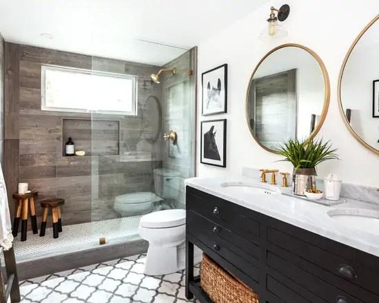 18 Luxury Farmhouse Bathroom Design Ideas - Style Motivation on Farmhouse Shower Ideas  id=12783