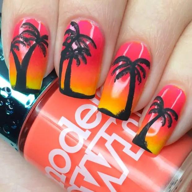 17 Tropical Nail Art Ideas Inspired by Beach