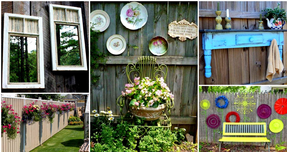 DIY Outdoor Projects: 18 Lovely Fence Decorating Ideas on Backyard Wall Decor Ideas  id=94458