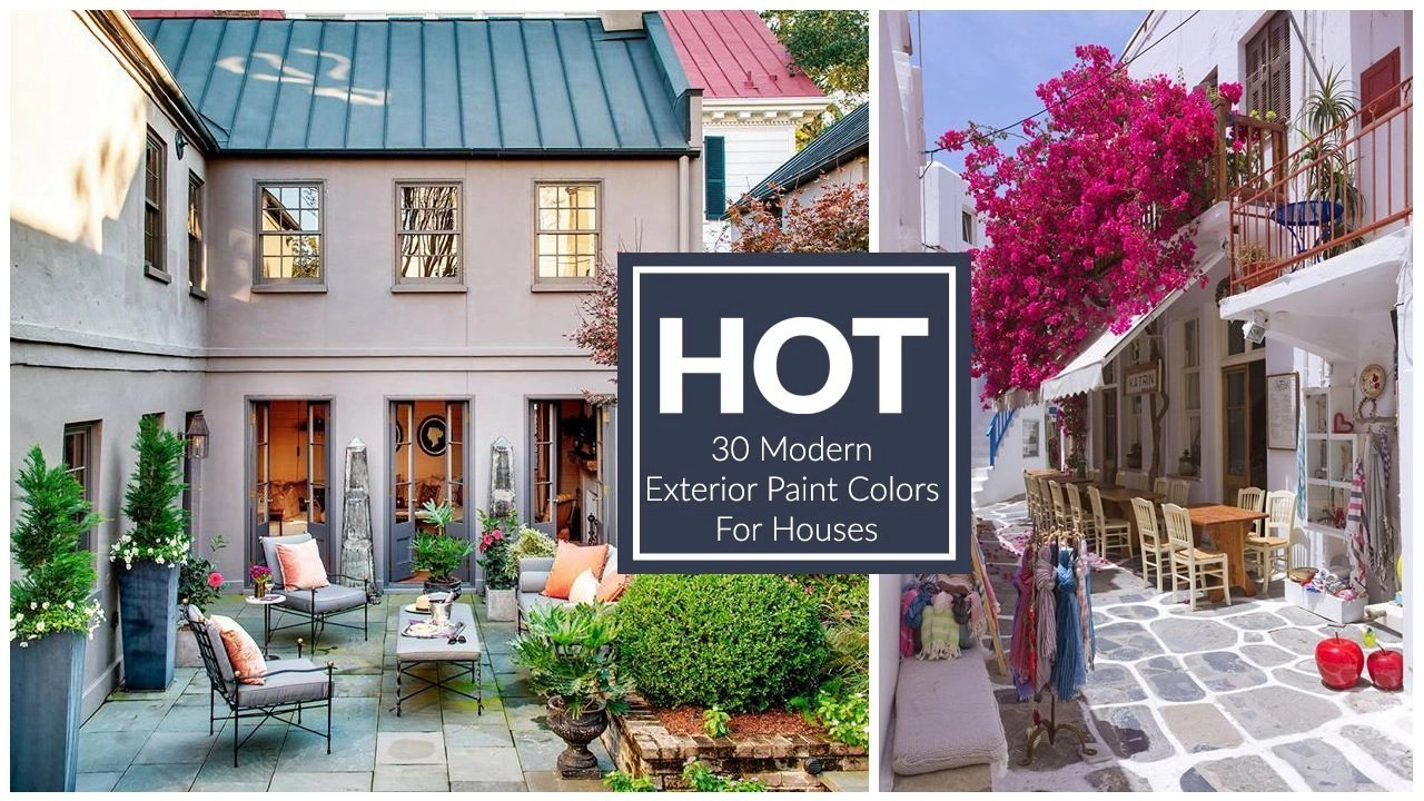 30 Modern Exterior Paint Colors For Houses - Stylendesigns on Modern House Painting  id=14061