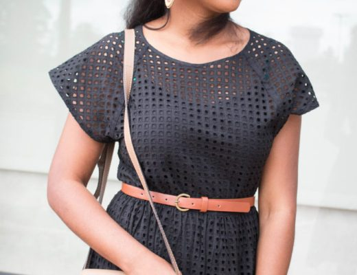 minnesotan-style-blogger,HOW TO WEAR BROWN AND BLACK, black-eyelet-dress