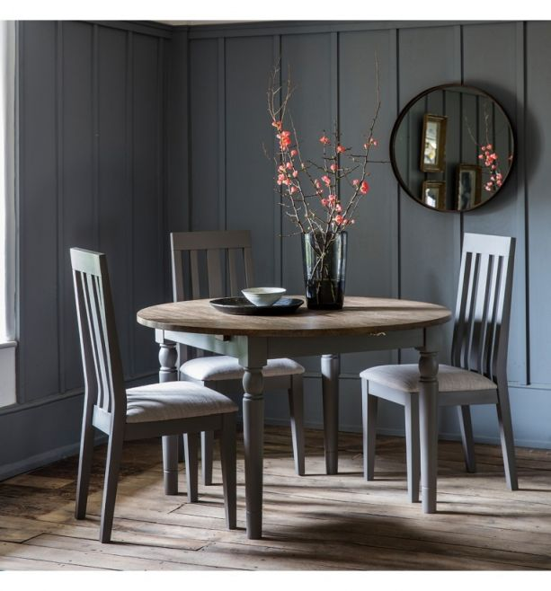 Cookham Round Extending Grey Dining Table Style Our Home