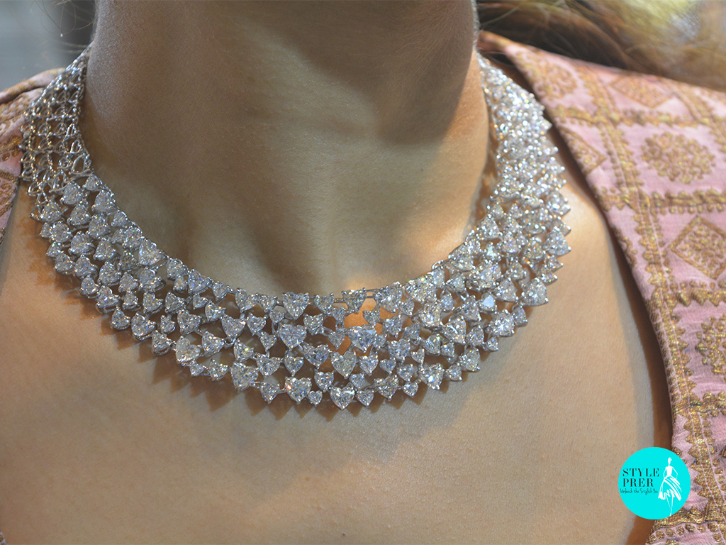 Heart Solitaire Diamond Necklace- Mehta & Sons.