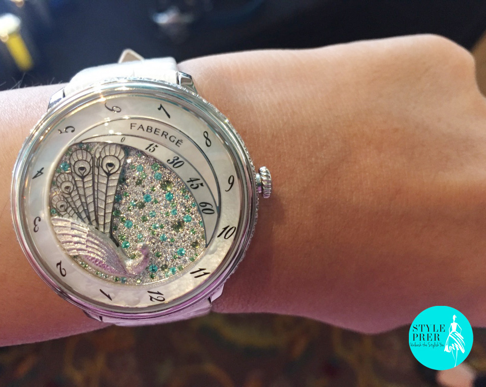 Fabergé Lady Compliquee Peacock Watch.