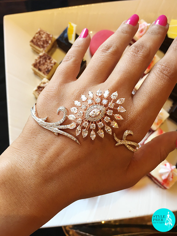 Classic Floral Palm Jewelry Encrusted With Round And Oval Forevermark Diamonds By NAC Jewellers