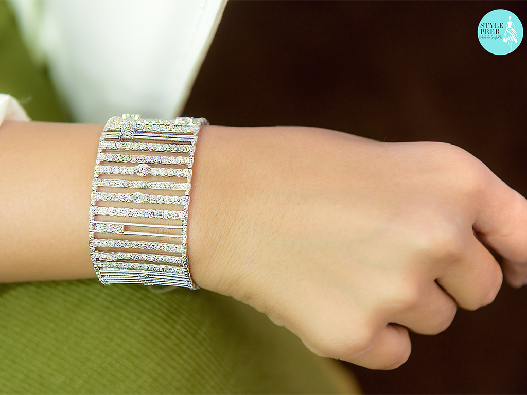 Fancy Forevermark Diamonds Set In A Cuff By Sanjay Garg