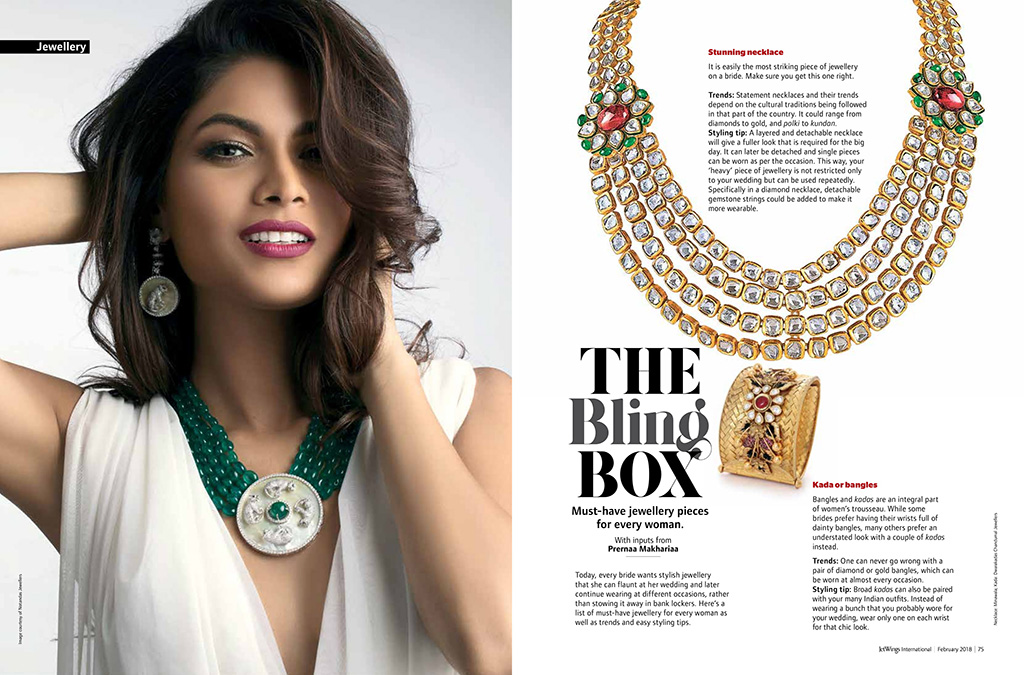 Prernaa Makhariaa Of Style Prer Featured In Jet Wings International, Inflight Magazine - Jet Airways, Page 74-75, February 2018