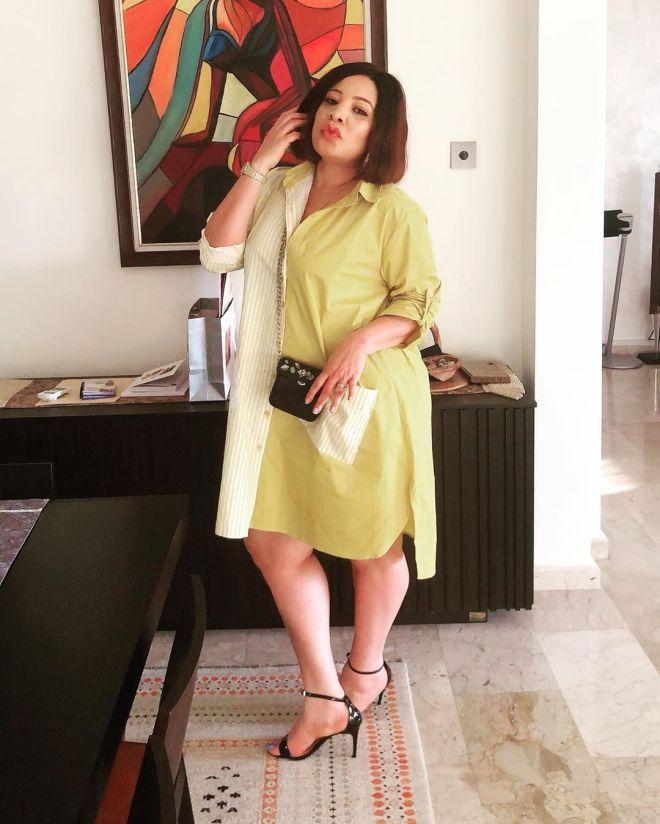 monalisa-chinda-shirt-dress-celebrity-weekend-style