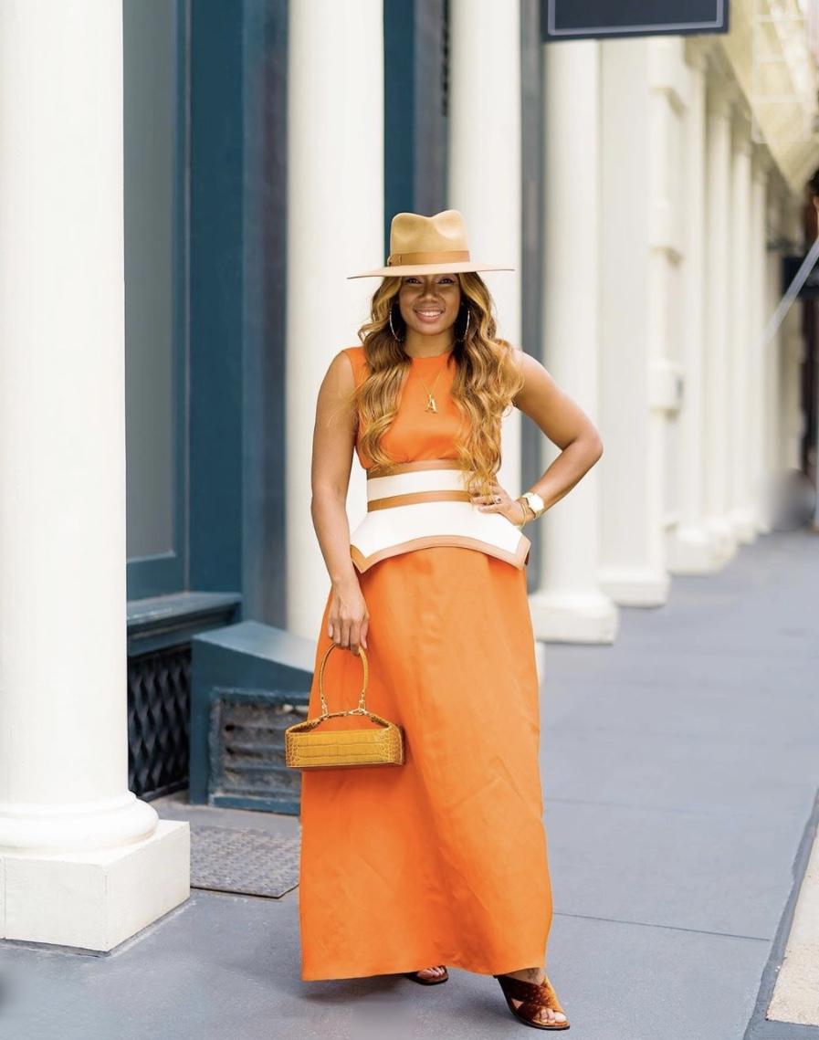 orange maxi dress obi belt trend stylerave
