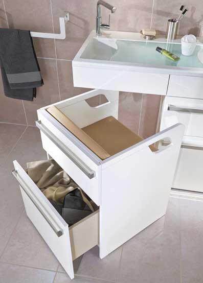 un meuble de salle de bains pour les