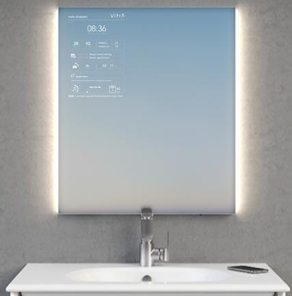 Smart Mirror De Vitra Il Vous Aide A Demarrer Votre Journee