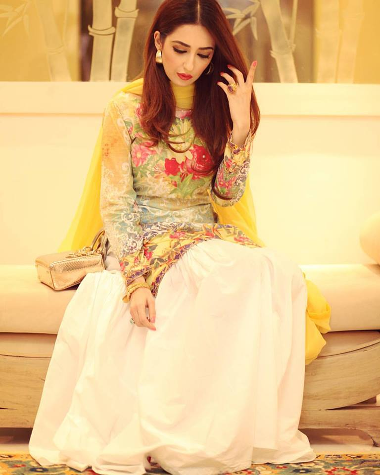 Yellow Color Mehndi Dresses