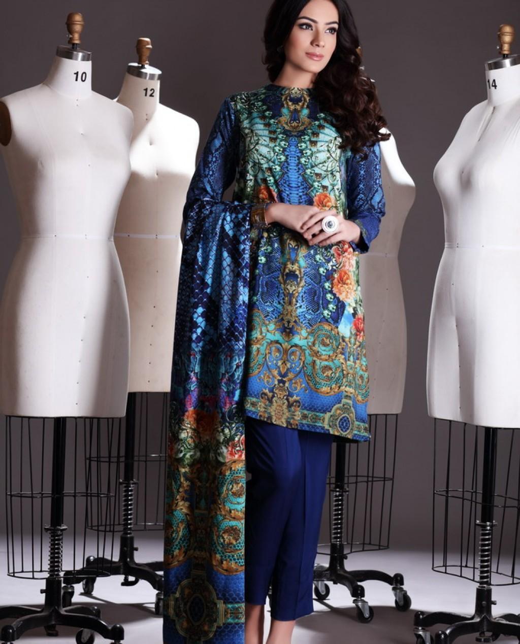 Nishat Linen Winter Collection 2015 2016 Nisha Winter