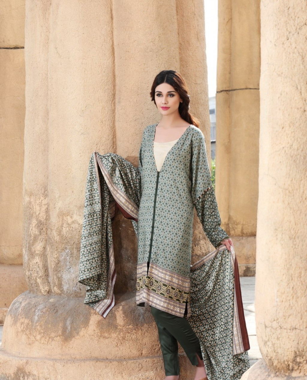 Nishat Linen Winter Collection 2015 2016 Nisha Winter Lookbook