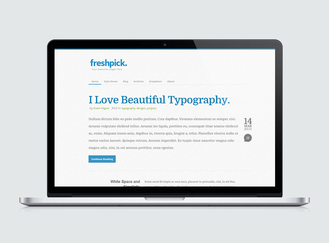 Free Website Template - Freshpick