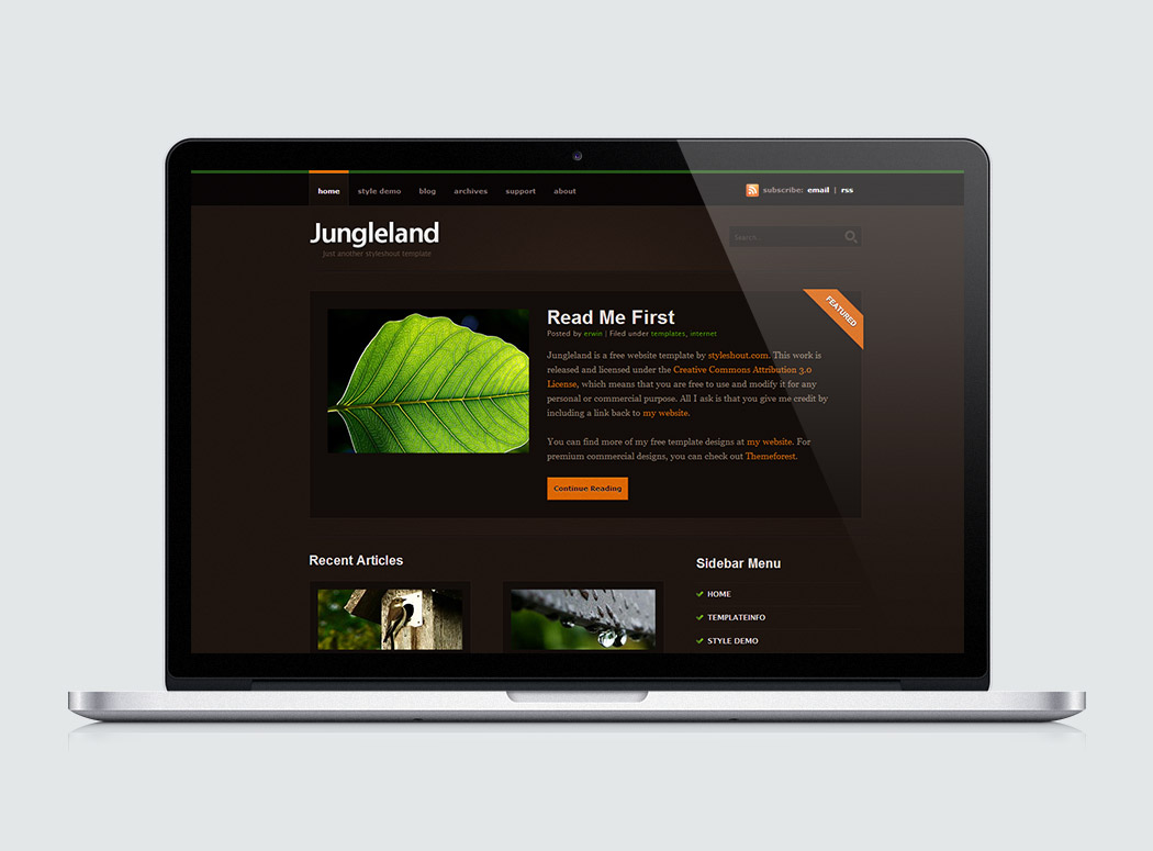 Free Website Template - Jungleland