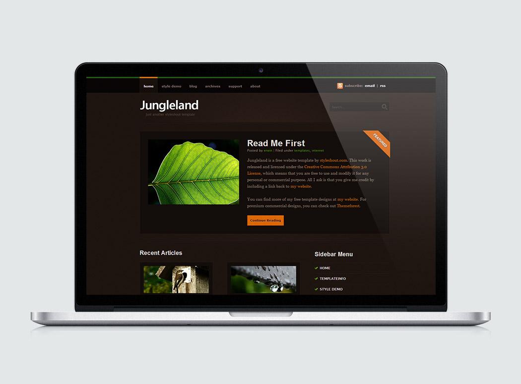 Free Website Template - Jungleland