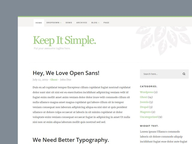 Free Website Template - Keep It Simple 3.0.0 - 01