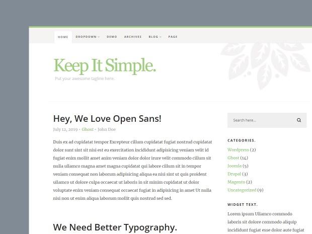 Free Website Template - Keep It Simple 3.0.0 - 01