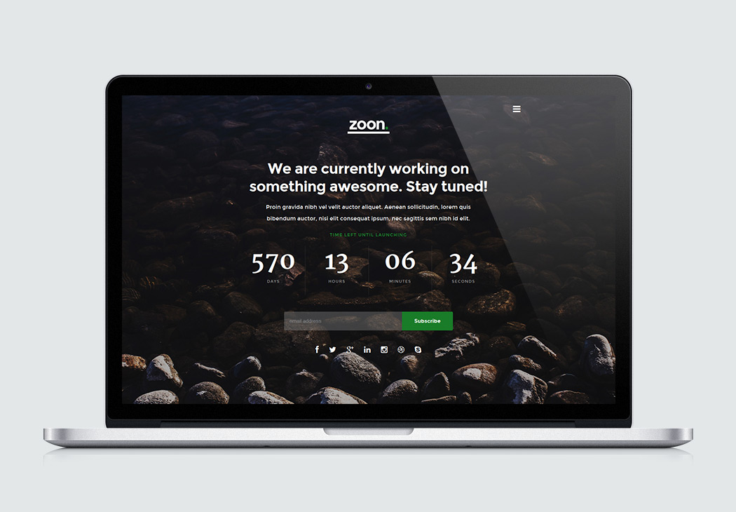 Free Website Template - Zoon