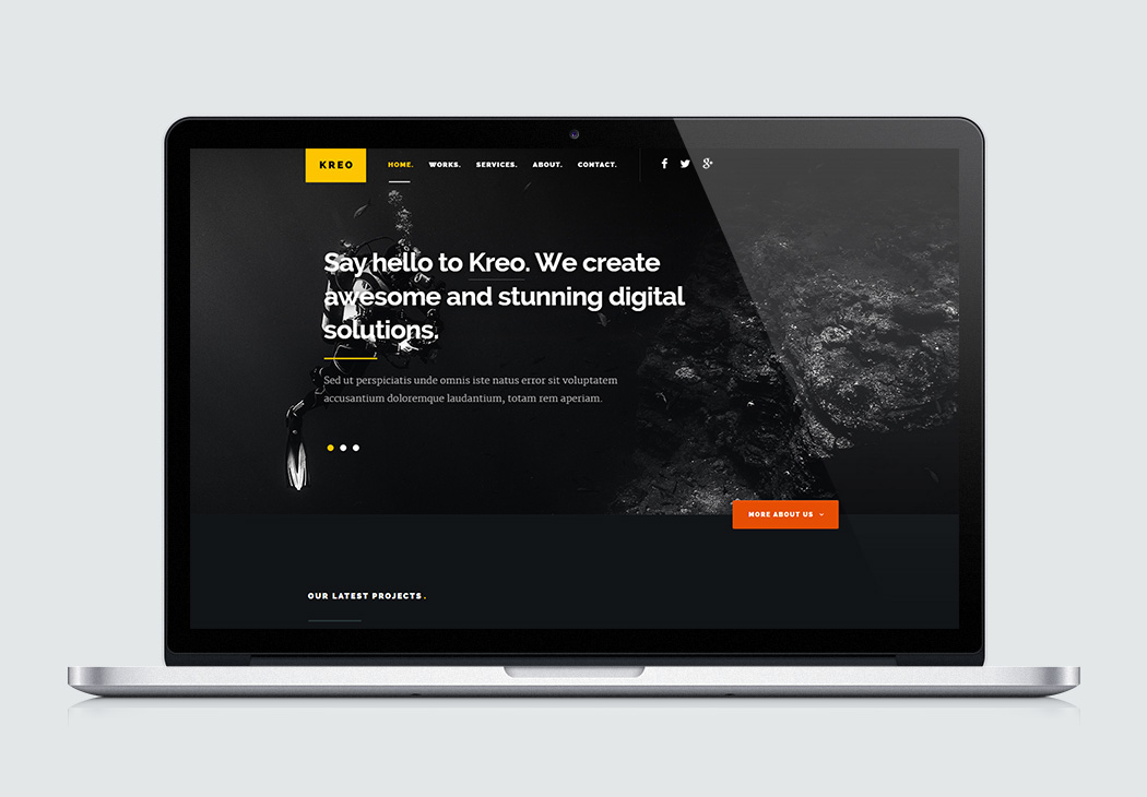 Kreo high quality free website template by styleshout free website template kreo pronofoot35fo Images