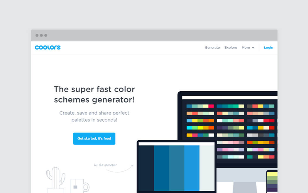 Color palette generator and color tool - Coolors