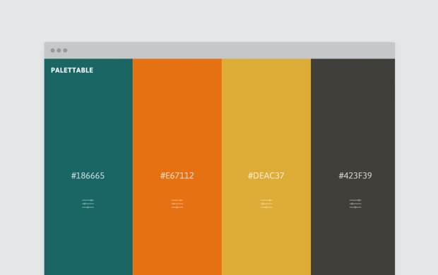 Color palette generator and color tool - Palettable