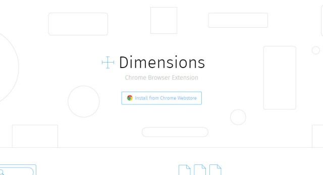 Chrome Extension for Web Designers - Dimensions